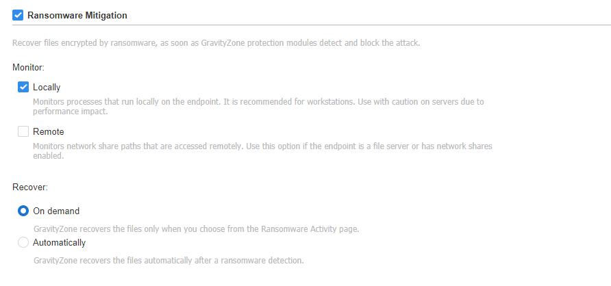 Ransomware Mitigation Configuracion